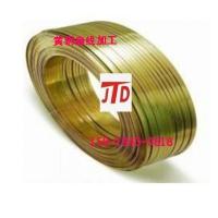 供应h65插头专用黄铜扁线 t2紫铜方线价格优惠